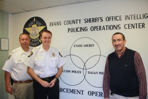ECSO Police Chiefs Hagan Claxton with Sheriff Tippins